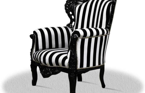 Poltrona Barocca Bianco e Nero